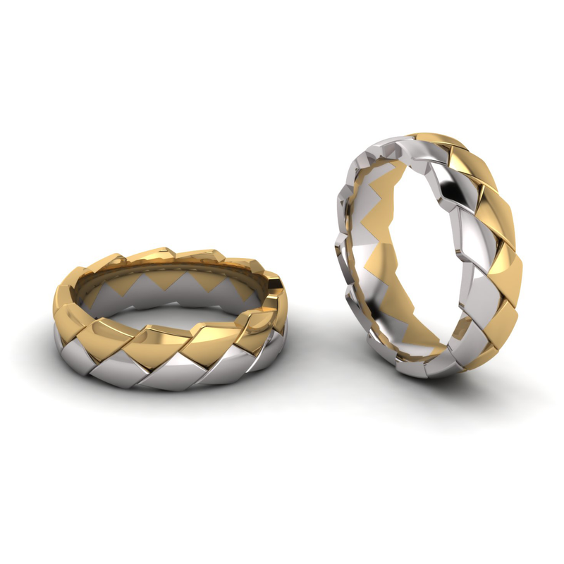 Half Round Double Row Pangolin Ring