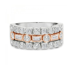 18ct Two-Tone Diamond Band