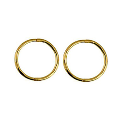 9ct Yellow Gold Large Faceted Sleepers