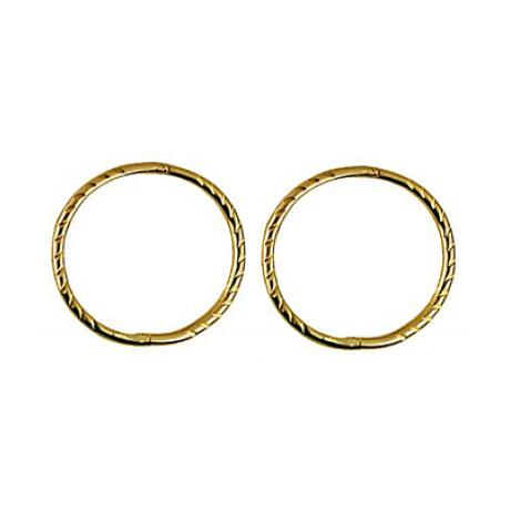 9ct Yellow Gold Large Twisted Sleepers
