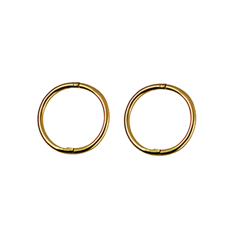 9ct Yellow Gold Medium Plain Sleepers