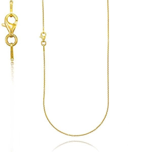18ct Yellow Gold Trace Chain (1.50mm) - 50cm