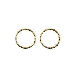 9ct Yellow Gold Small Faceted Sleepers