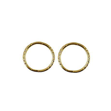 9ct Yellow Gold Small Twisted Sleepers