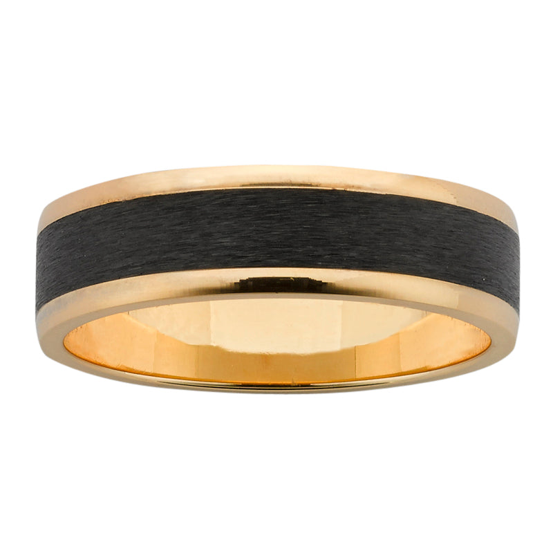 ZiRO Yellow Gold & Zirconium Wedder - 6mm