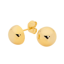 Georgini 10mm Round Domed Gold Stud Earrings