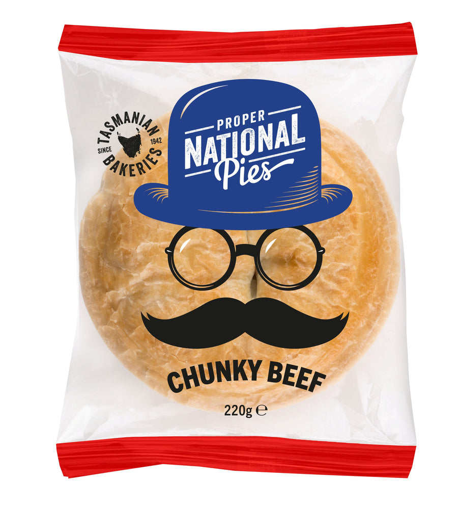 National Pies Chunky Beef Pie 12x220g