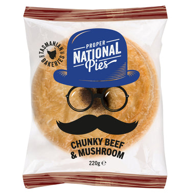 National Pies Chunky Beef & Mushroom Pie 12x220g