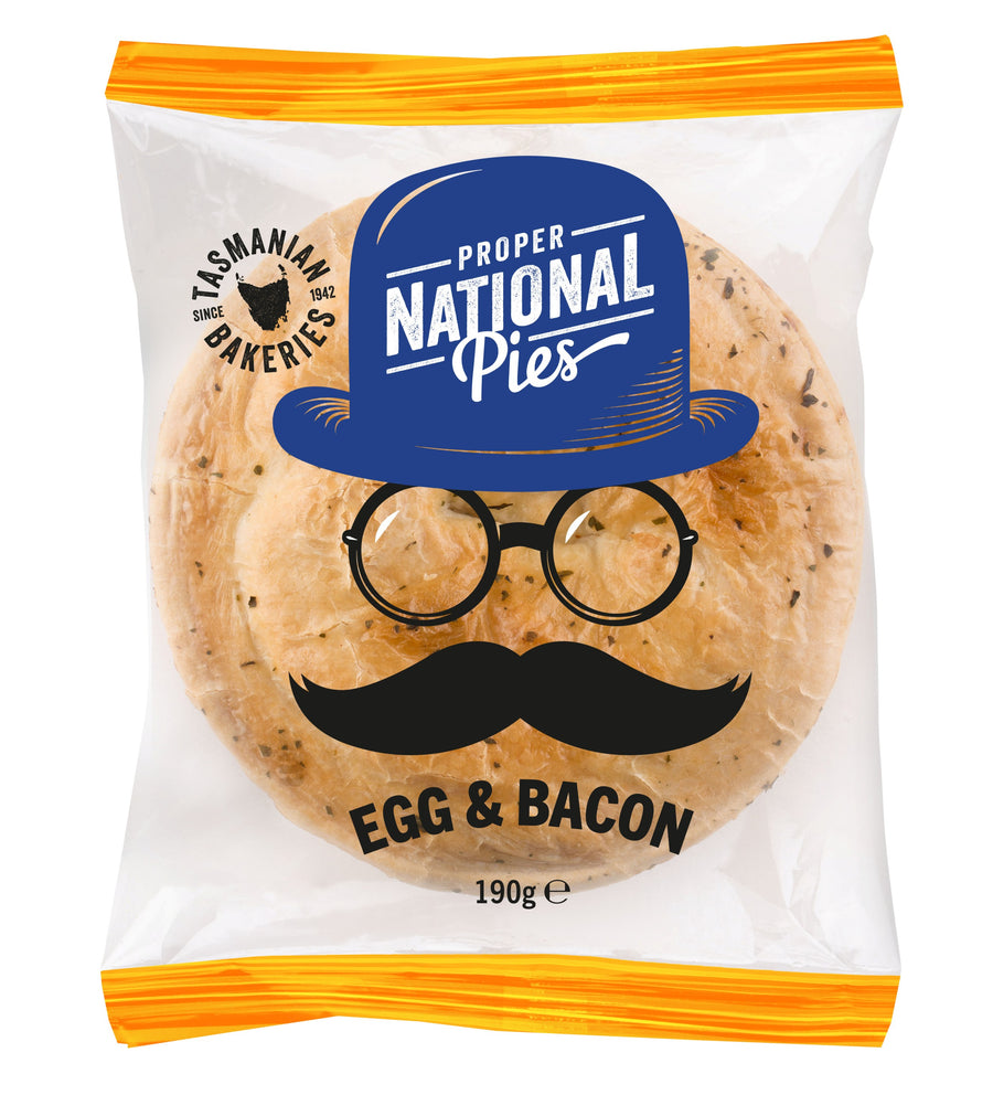National Pies Egg & Bacon Pepper Pie 12x190g