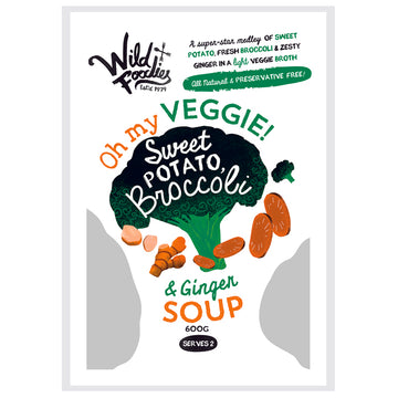 Wild Foodies Sweet Potato Broccoli Soup 6x600g