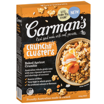 Carman's Baked Apricot Crumble Clusters 5x500g