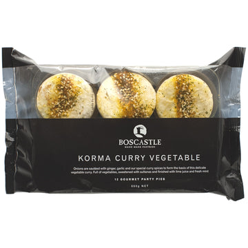 Boscastle Curry Vegetables Pie 4x660g
