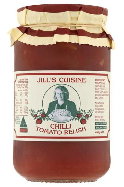 Jill's Cuisine Traditional Chilli Tomato Relish 6x400g