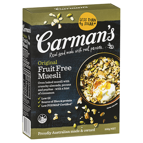 Carman's Original Fruit Free Muesli - Bellco Group Fine Food Distributers