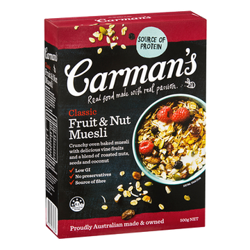Carman's Classic Fruit & Nut Muesli - Bellco Group Fine Food Distributers