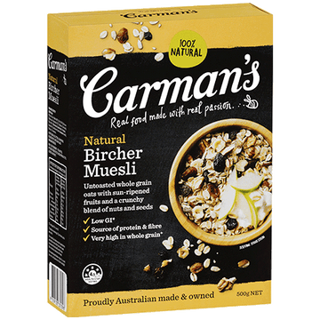 Carman's Natural Bircher Muesli 6x500g