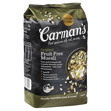Carman's Original Fruit Free Muesli 4x1.5kg