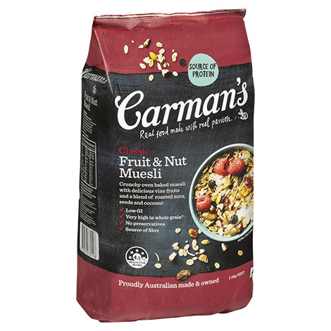 Carman's Classic Fruit & Nut Muesli 1.5kg - Bellco Group Fine Food Distributers