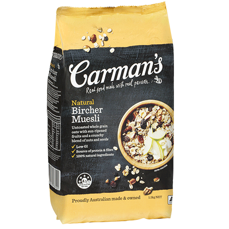 Carman's Natural Bircher Muesli 4x1.5kg