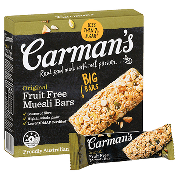 Carman's Original Fruit Free Muesli Bars 6x270g
