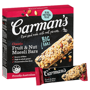 Carman's Classic Fruit & Nut Muesli Bars 6x270g