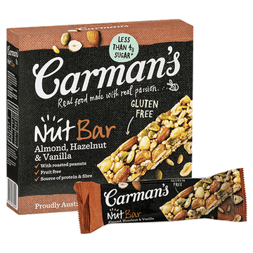 Carman's Almond, Hazelnut & Vanilla Nut Bars 6x175g