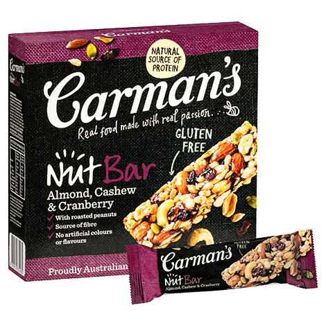 Carman's Almond, Cashew & Cranberry Nut Bars 6x175g