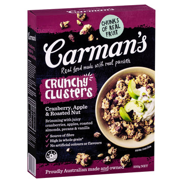 Carman's Cranberry, Apple & Roast Nut Clusters 5x500g