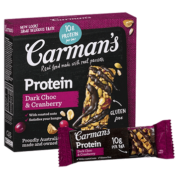 Carman's Dark Choc & Cranberry Gourmet Protein Bars - Bellco Group Fine Food Distributers