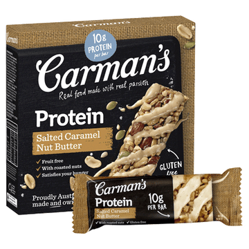 Carman's Salted Caramel Nut Butter Protein Bars 6x200g