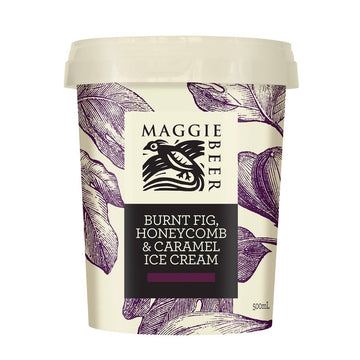 Maggie Beer Burnt Fig Honeycomb & Caramel Ice Cream 6x500ml
