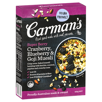 Carman's Super Berry Muesli 6x500g