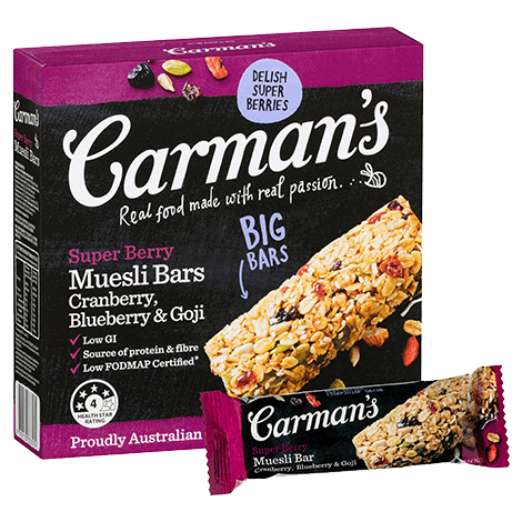 Carman's Super Berry Muesli Bars 6x270g