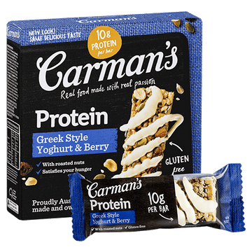 Carman's Greek Style Yoghurt & Berry Protein Bars 6x200g