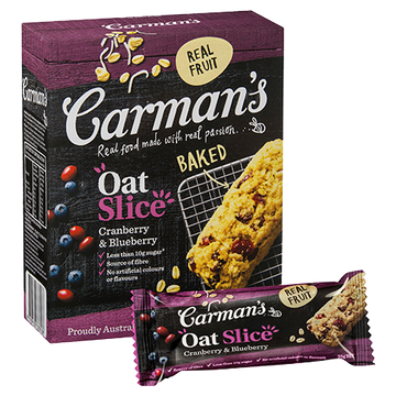 Carman's Cranberry & Blueberry Oat Slice - Bellco Group Fine Food Distributers