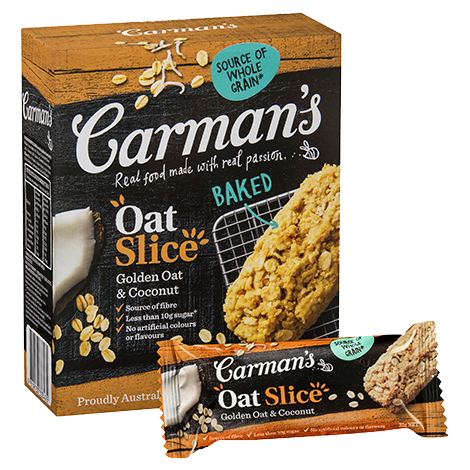 Carman's Golden Oat & Coconut Oat Slice 6x210g