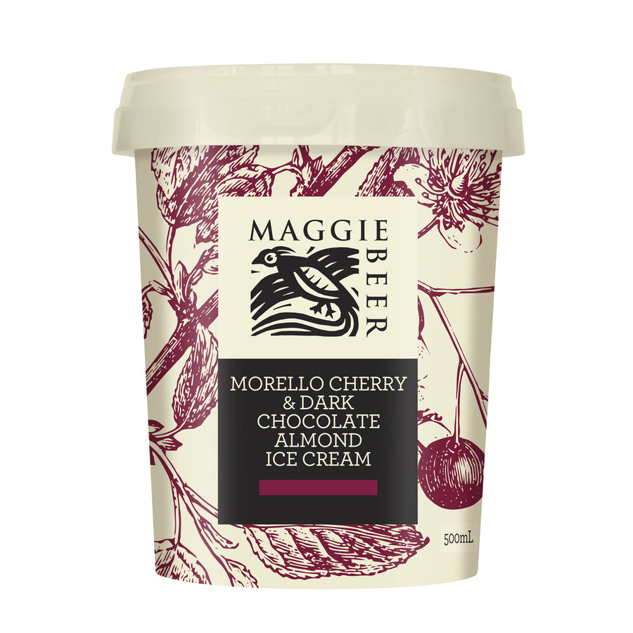 Maggie Beer Morello Cherry & Dark Chocolate Almond Ice Cream 6x500ml