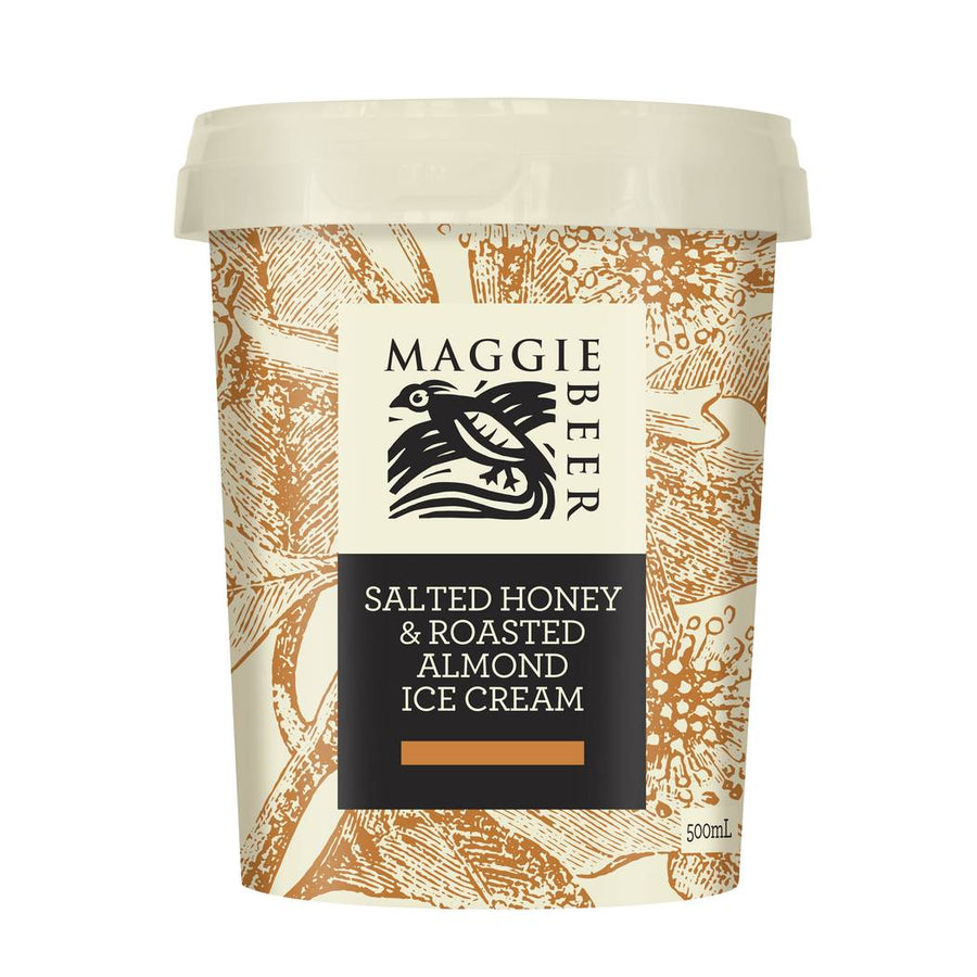 Maggie Beer Salted Honey & Roast Almond Ice Cream - Bellco Group Fine Food Distributers