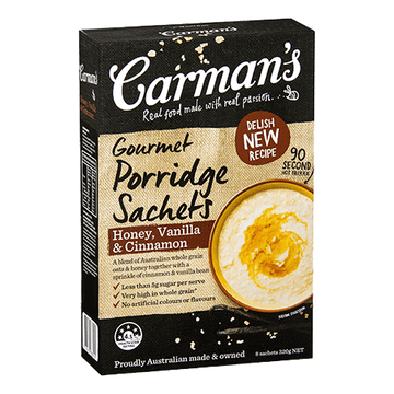 Carman's Honey, Vanilla & Cinnamon Porridge 6x320g