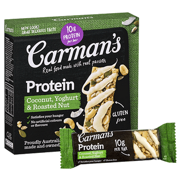 Carman's Protein Coconut, Yoghurt & Roasted Nut Bars 6x200g
