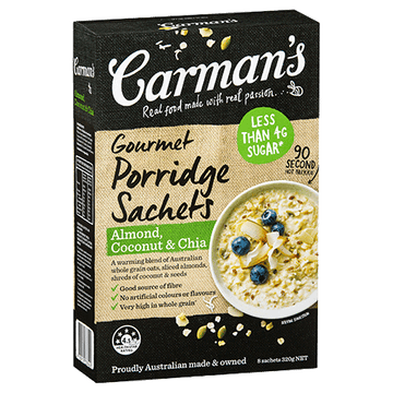 Carman's Almond, Coconut & Chia Porridge 6x320g
