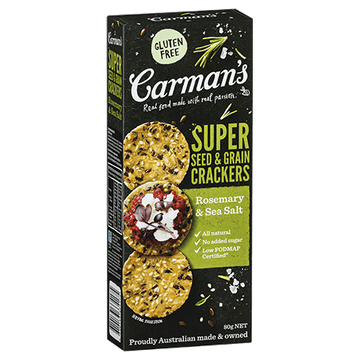 Carman's Rosemary & Sea Salt Super Seed & Grain Crackers 14x80g