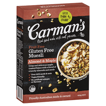 Carman's Almond & Maple Gluten Free Muesli 6x400g