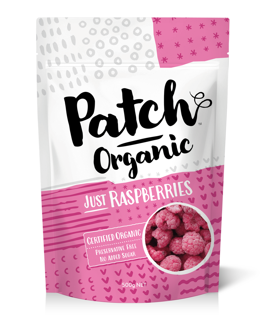 Patch Organic Raspberries 6x500g