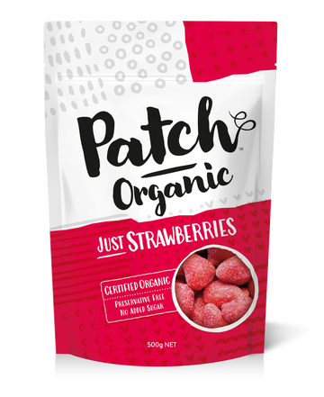 Patch Organic Strawberries 6x500g