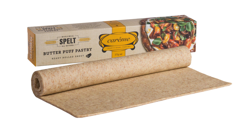 Careme Wholemeal Spelt Butter Puff Pastry 12x375g