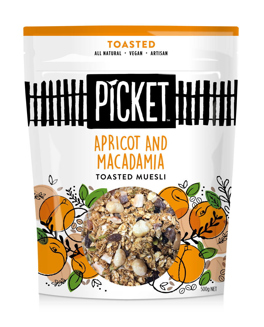 Picket Toasted Apricot & Macadamia Muesli 6x500g