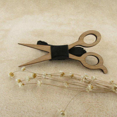 DapperTime Wooden Scissors Bow Tie display