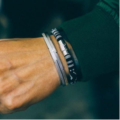 dappertime men's silver bangle