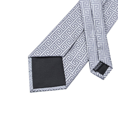 DapperTime Silver Pattern Tie Back